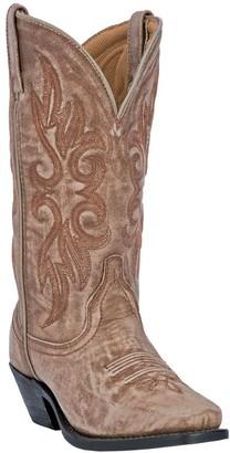 Laredo Leather Cowboy Boots with Crackle Finish- Maricopa