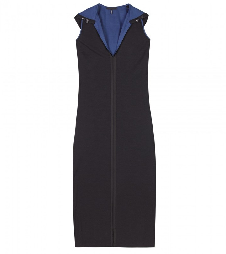 Jil Sander Navy HOODED KNIT DRESS