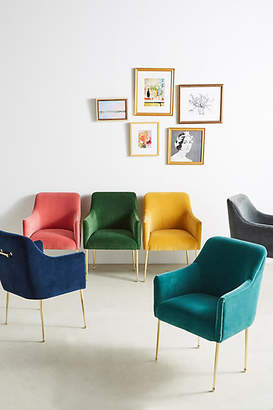Anthropologie Velvet Elowen Armchair