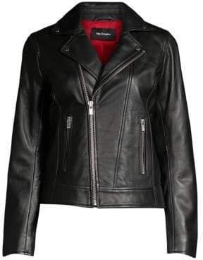 The Kooples Women's Moto Leather Jacket - Black - Size XXS