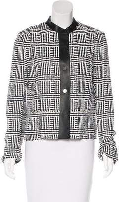 Proenza Schouler Leather-Trimmed Woven Jacket