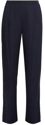 Vince Wide Leg Stretch Satin Trousers - Womens - Navy