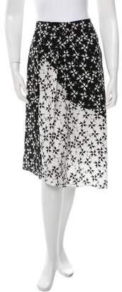 Tanya Taylor Printed Silk Skirt w/ Tags