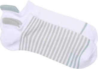 Lemon Striped No Show Socks - 2 Pack - Women's