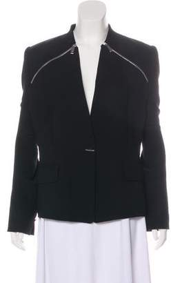 Barbara Bui Zip-Accented Woven Jacket