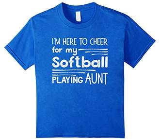 I'm Here to Cheer for my Softball Playing Aunt Shirt