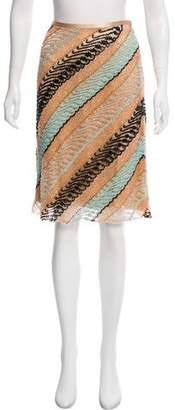 Naeem Khan Beaded Knee-Length Skirt