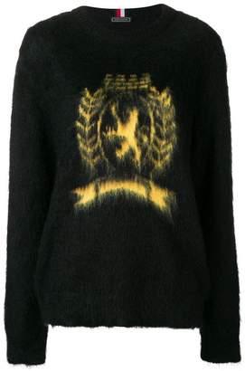 Tommy Hilfiger fuzzy logo sweater