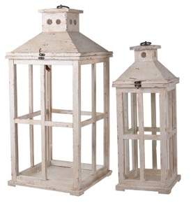 A&B Home Reed Candle Lanterns - Set of 2, 25-Inch and 19.5-Inch