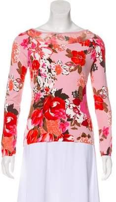 Blumarine Floral Print Knit Top
