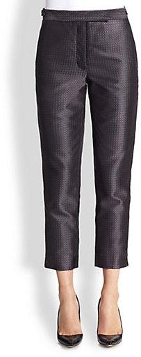 Thom Browne Silk Jacquard Trousers