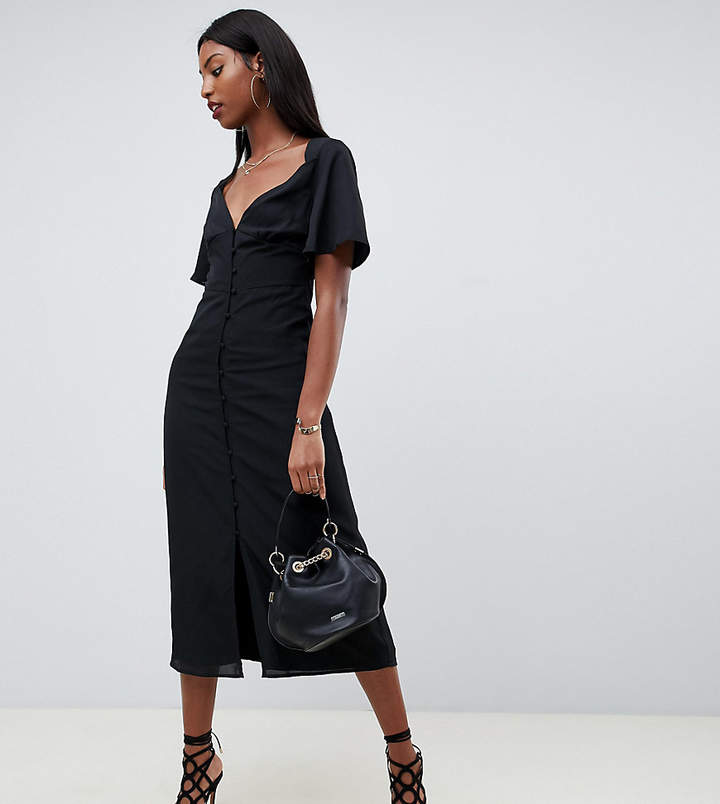 Tall tall maxi dress with flutter sleeves