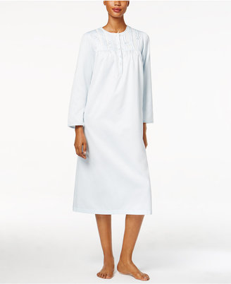 Miss Elaine Embroidery-Trimmed Nightgown $60 thestylecure.com