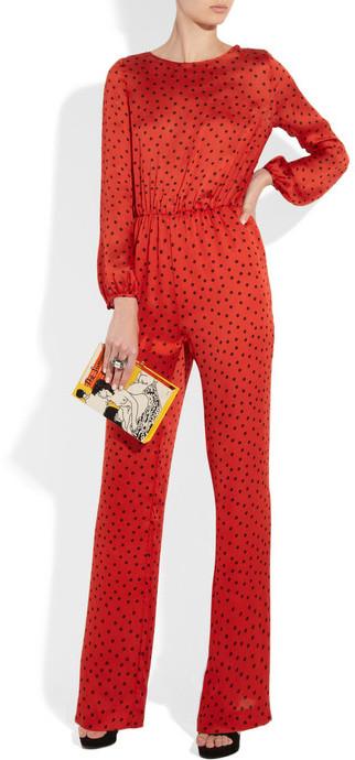 Moschino Cheap & Chic Moschino Cheap and Chic Polka-dot print silk jumpsuit