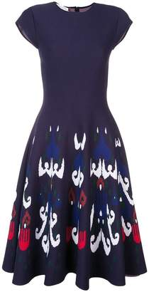 Oscar de la Renta fit and flare dress