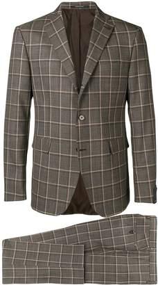 Tagliatore checked formal suit