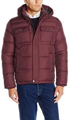 Tommy Hilfiger Men's Nylon Two Pocket Hooded Puffer Jacket