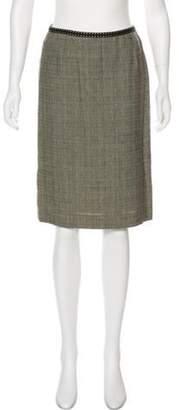 Alberta Ferretti Pencil Tweed Skirt Brown Pencil Tweed Skirt