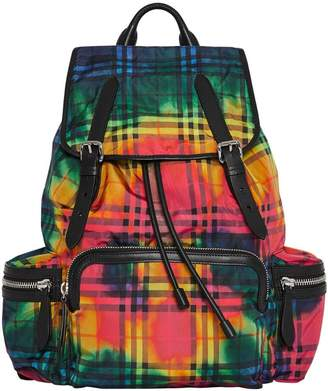 Burberry multicoloured tie-dye vintage check rucksack