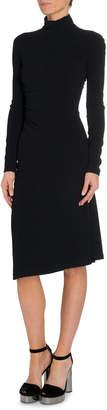 Tom Ford Shirred Side Turtleneck Dress