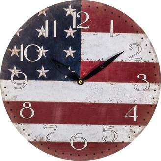 Casa Uno Stars & Stripes Wall Clock, 28.8cm