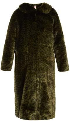 SHRIMPS Patrick leopard-print faux-fur coat