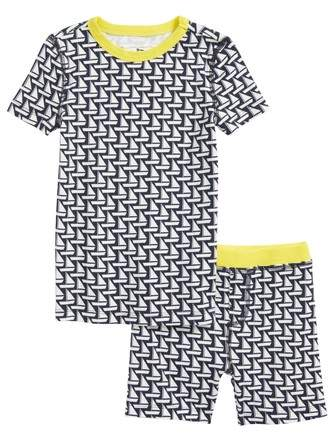 crewcuts by J.Crew Sailboat Fitted Two-Piece Pajamas Set