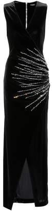 Balmain Embellished velvet dress