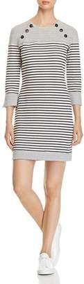 Three Dots Reversible Striped Dress