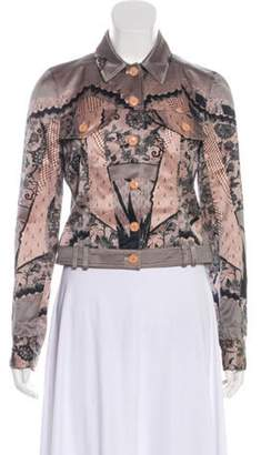 Christian Dior Collared Cropped Jacket Mauve Collared Cropped Jacket
