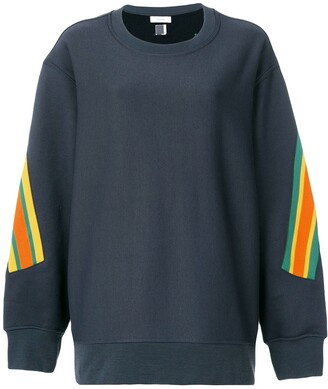 Facetasm oversized stripe detail sweatshirt