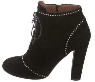 Tabitha Simmons Suede Embellished Boots