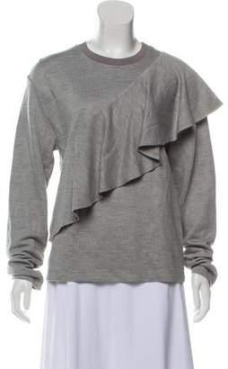 Diane von Furstenberg Ruffle Front Pullover w/ Tags