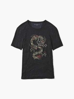 John Varvatos Dragon Linen Tee