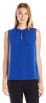 Lark & Ro Women's Single Button Sleeveless Top