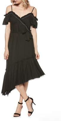 Paige Aylin Asymmetrical Cold Shoulder Dress