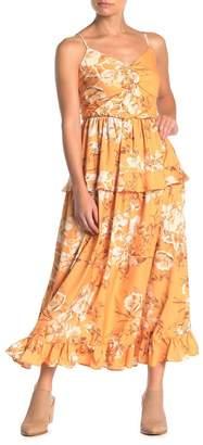 Beautifully Sleeveless Floral Print Dress