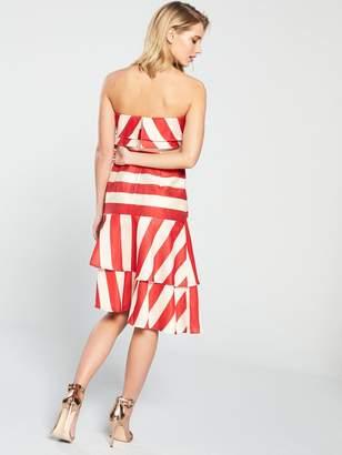 Keepsake Come Back Strapless Dress - Stripe