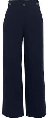 Jason Wu Grey Button-Detailed Cotton-Blend Twill Wide-Leg Pants