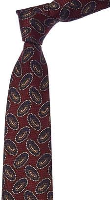 Chanel Burgundy Silk Tie