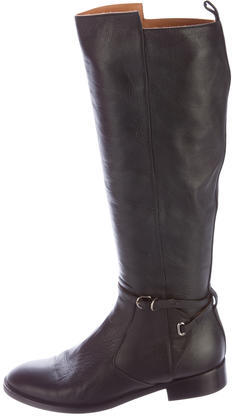 Balenciaga  Balenciaga Buckle-Accented Leather Boots