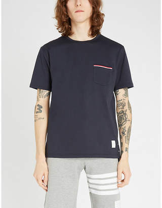 Thom Browne Patch pocket cotton T-shirt