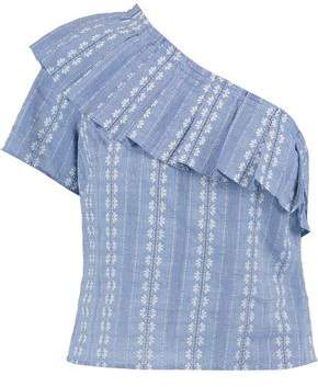 Splendid One-Shoulder Cotton-Jacquard Top