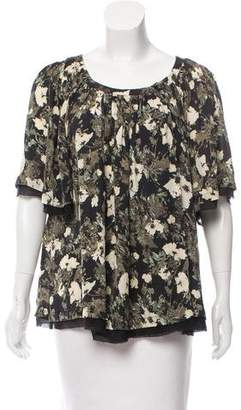 Elizabeth and James Printed Oversize Top