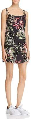 French Connection Womens Tropical Print Tie Shoulder Casual Dress
