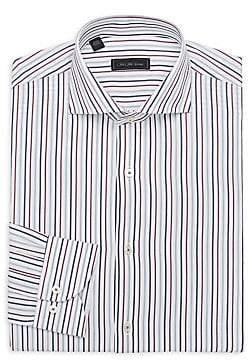 Saks Fifth Avenue Men's MODERN Vertical Stripe Cotton Dress Shirt