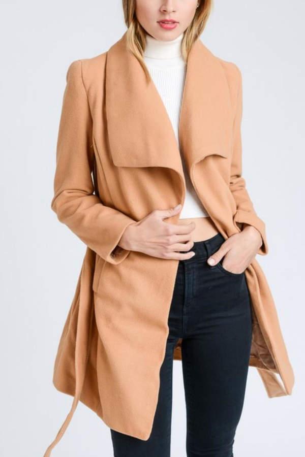 Camel Collar Coat