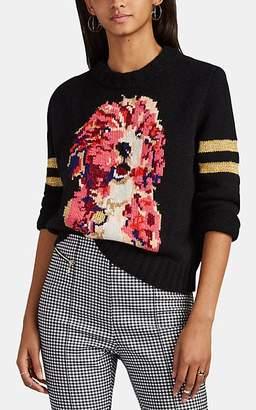 Spencer Vladimir Women's Bella Intarsia-Knit Cashmere Sweater - Black
