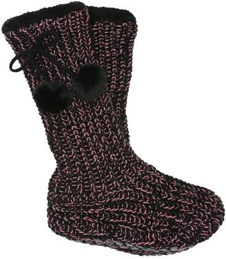 M&Co Teens' knitted slipper socks