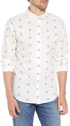 Bonobos Summerweight Slim Fit Camel Print Sport Shirt